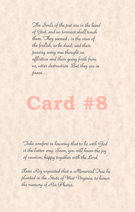 Religious Christian Sympathy Card  Funeral Words For Cards